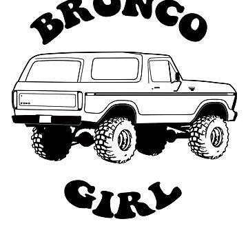 1978/79 Bronco Girl Black Print by TheOBSApparel