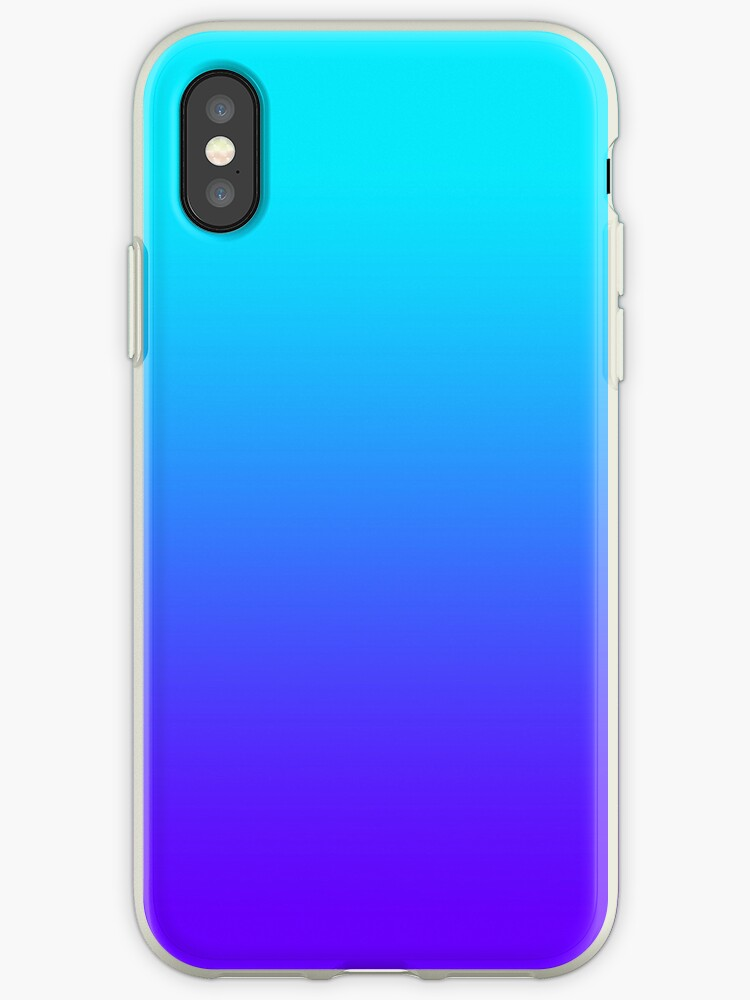 free shipping b33c1 79618 'Light blue to dark blue ombre' iPhone Case by Electric Stars