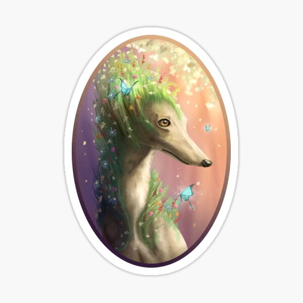 Greyhound of Spring. Sticker