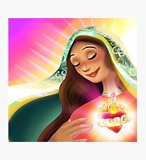 Our Lady's Heart Photographic Print