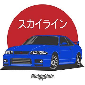 GT-R R33 (blue) by MotorPrints