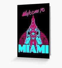 Welcome to Miami - I - Richard Greeting Card