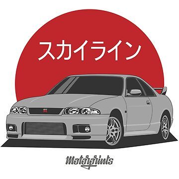 GT-R R33 (silver) by MotorPrints