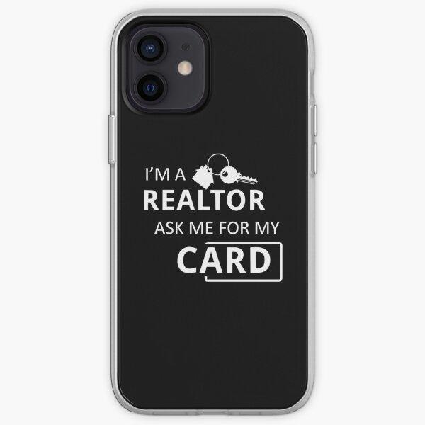 Immobilienmakler Ich bin ein Grundstücksmakler Fragen Sie mich nach meiner Karte iPhone Flexible Hülle