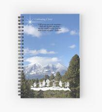 Forest Peak Retreat, Flagstaff Image with verse Spiral Notebook