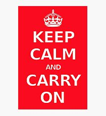 Classic Keep calm poster Photographic Print