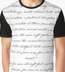 """Bright Star"" John Keats Print Graphic T-Shirt"
