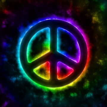 Rainbow Peace Sign by yarddawg