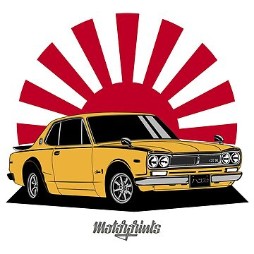 2000 GT-R (yellow) by MotorPrints
