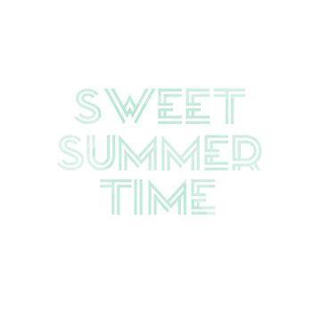 Menta Acuarela Dulce Tiempo de verano diciendo de jashirts