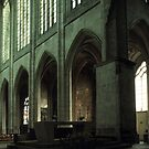 Across nave to Altar c12+ St Stephens Beauvais France 19840827 0065  by Fred Mitchell
