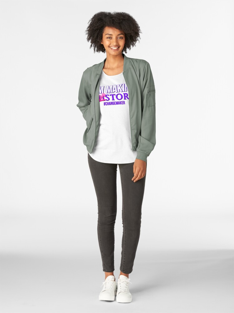 Alternate view of I'm Making HERstory - Women's Empowerment For Female Entrepreneurs Premium Scoop T-Shirt