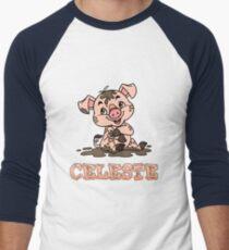 Celeste Piggy Men's Baseball ¾ T-Shirt