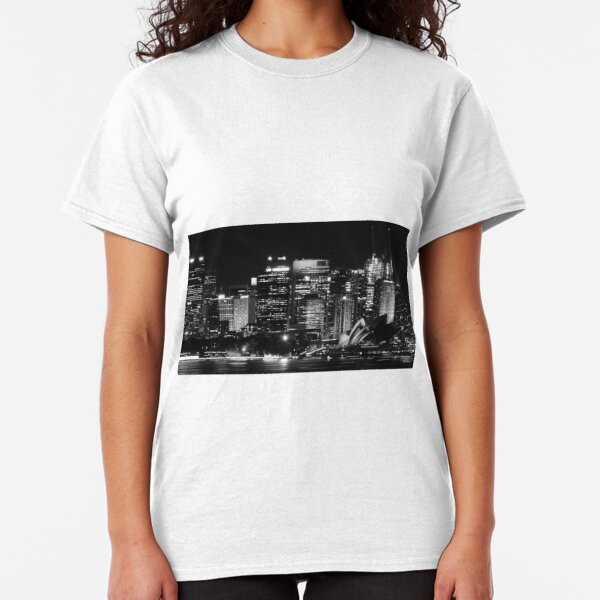 Sydney City Skyline B&W Classic T-Shirt