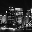 Sydney City Skyline B&W by Steven Guy