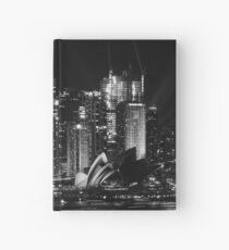Sydney City Skyline B&W Hardcover Journal