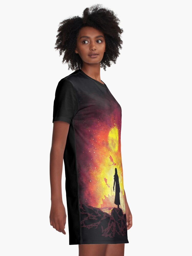Alternate view of Born Of Fire Graphic T-Shirt Dress