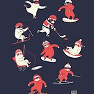Winter Sloth Olympics by Amy Bouchard