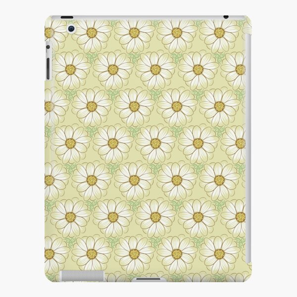 Doodle Daisies Cream Pattern iPad Snap Case