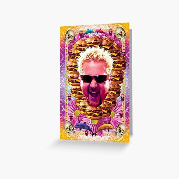 guy celebrity chef fieri Greeting Card