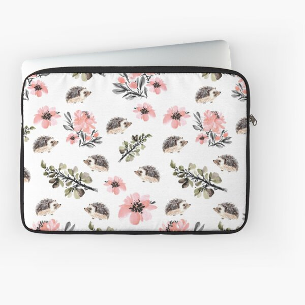 Hedgehog Florals Laptop Sleeve