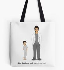 The Subject and the Scientist (Hopeful Look) Tote Bag