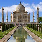 Taj Mahal with reflection. by bulljup