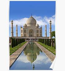 Taj Mahal with reflection. Poster