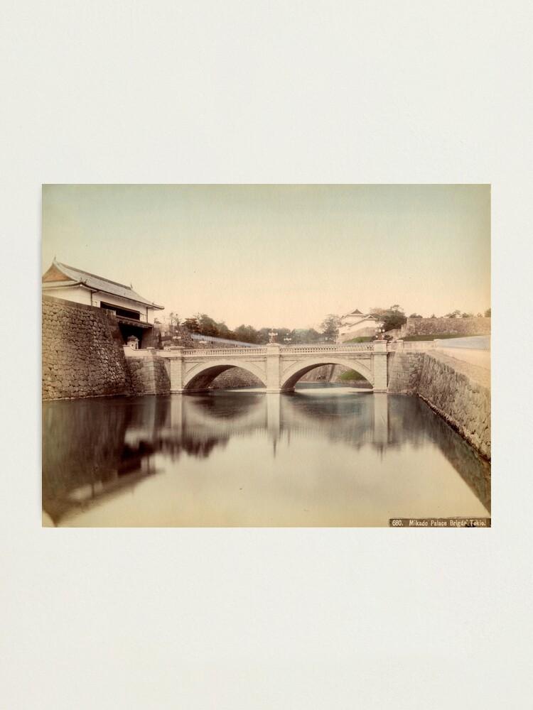Alternate view of Mikado Palace bridge, Tokyo Photographic Print