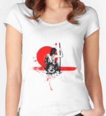 Trash Polka - Female Samurai Women's Fitted Scoop T-Shirt