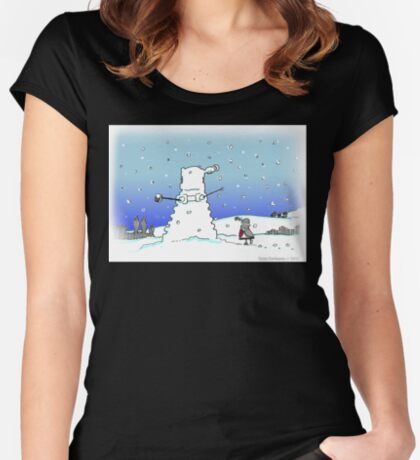 Snow Globes Women's Fitted Scoop T-Shirt
