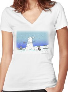 Snow Globes Women's Fitted V-Neck T-Shirt