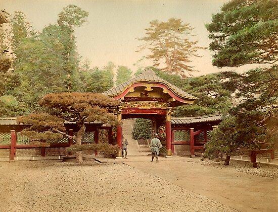 Temple at Shiba, Tokyo by Fletchsan