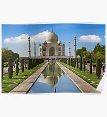Taj Mahal with reflection north side. Poster