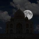 Taj Mahal Moonset. by bulljup