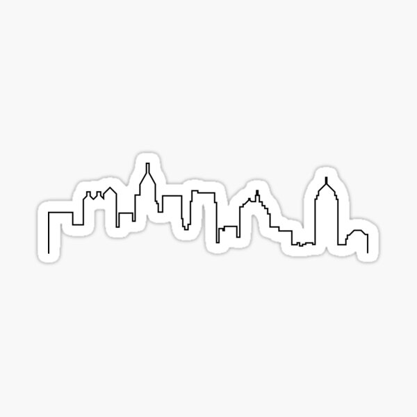 Atlanta, Georgia City Skyline Silhouette  Sticker