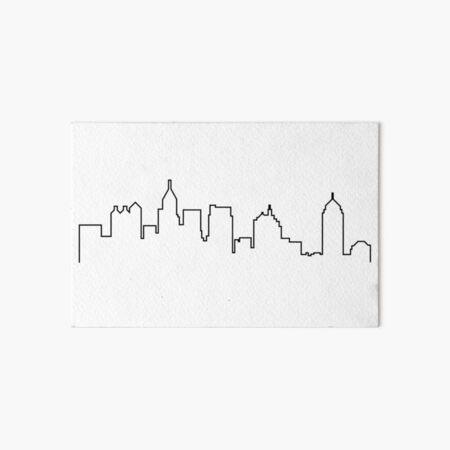 Atlanta, Georgia City Skyline Silhouette  Art Board Print
