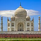 Taj Mahal from Yamuna River. by bulljup