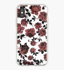 Distressed Vintage Red Roses iPhone Case