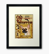 French Bulldog Art - Butch Cassidy and the Sundance Kid Movie Poster Framed Print