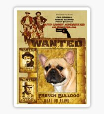 French Bulldog Art - Butch Cassidy and the Sundance Kid Movie Poster Sticker