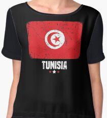 Tunisia Flag Apparel Chiffon Top