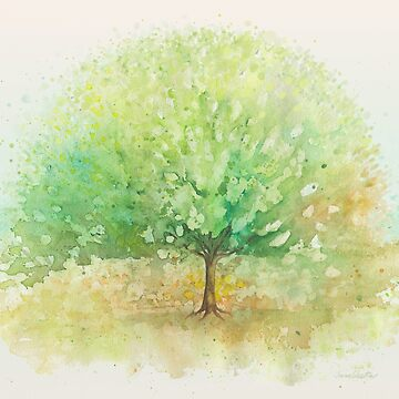 Old watercolor Tree  by IvaW