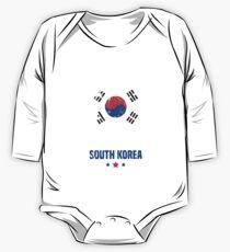 South Korea Flag Korean Apparel One Piece - Long Sleeve