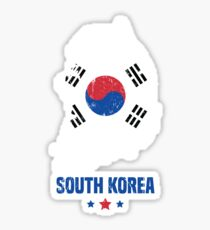 South Korea Flag Korean Apparel Sticker
