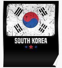 South Korea Flag Korean Apparel Poster