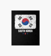 South Korea Flag Korean Apparel Art Board