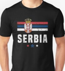 Serbia Flag Serbian Apparel Unisex T-Shirt