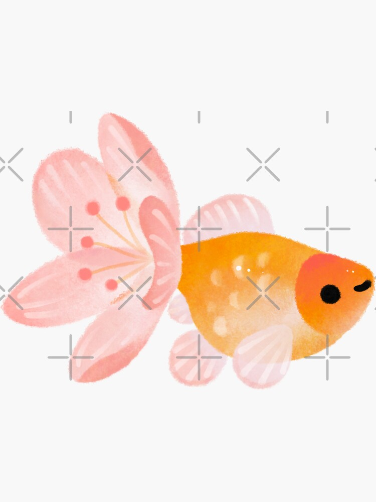 cold / cherry blossom goldfish by pikaole