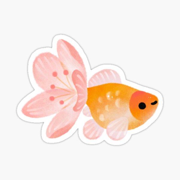 cold / cherry blossom goldfish Sticker